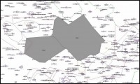 mapa prostorů vojenského cvičení QVADIS