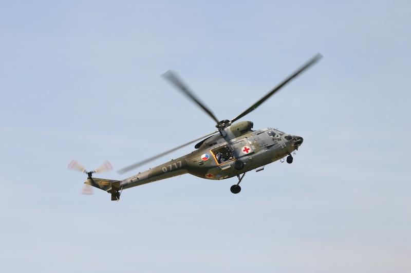 záchranářský vrtulník armády české republiky