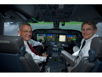 Cockpit of Gulfstream G450 for Honeywell Transatlantic Biofuel Flight