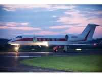 Honeywell Transatlantic Biofuel Flight Takeoff
