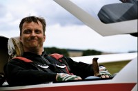 pilot akrobat na kluzáku