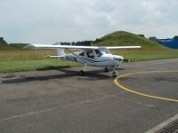 První C 162 na letišti v Hradci Králové