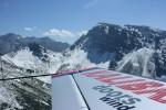 akrobatické letadlo pohled pilota