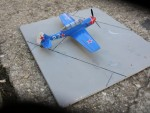 plastikový model letadla