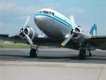 historické letadlo KLM v Praze Ruzyni