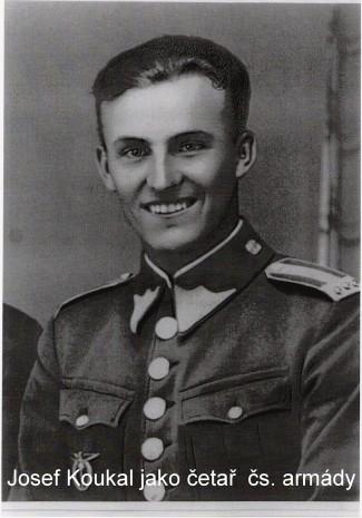 československý vojenský letec Josef Koukal