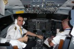 Cpt.Aleš Pavlíček a  FO Marian Klementík před odletem do Frankfurtu B737 OK XGE