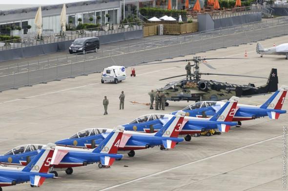Vrtulník Kamov a Patruille de France