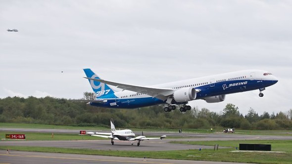 B 787-9 prvně ve vzduchu