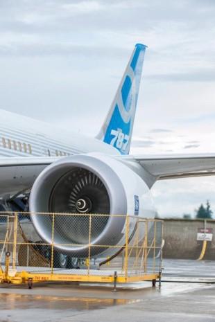 B 787 9 zkouška motoru