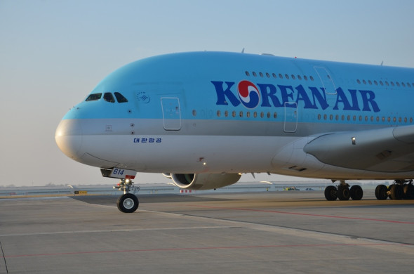 Airbus A 380 Korean Air Praha Ruzyně