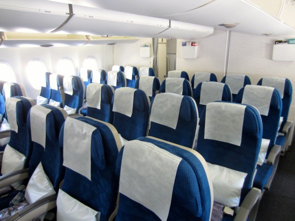 Ekonomická třída A380 Korean Air , foto Korean Air
