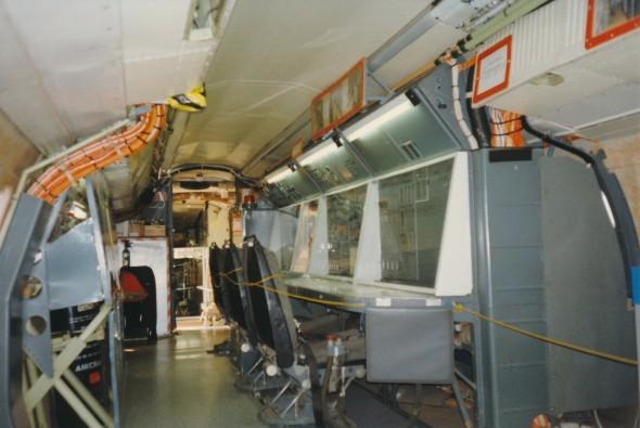 Pracoviště techniků jednoho z prototypů Concorde.