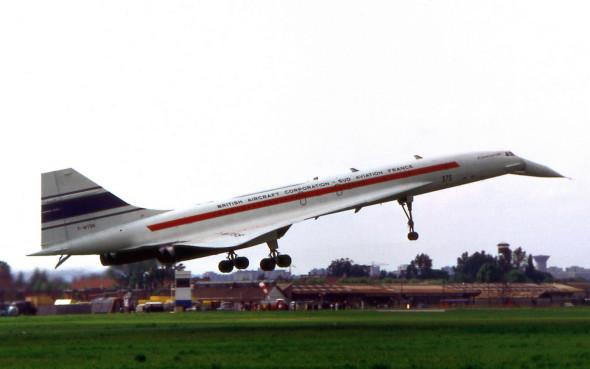 Prototyp Concorde na aerosalónu v Paříži v roce 1971 , foto A.Picollet.