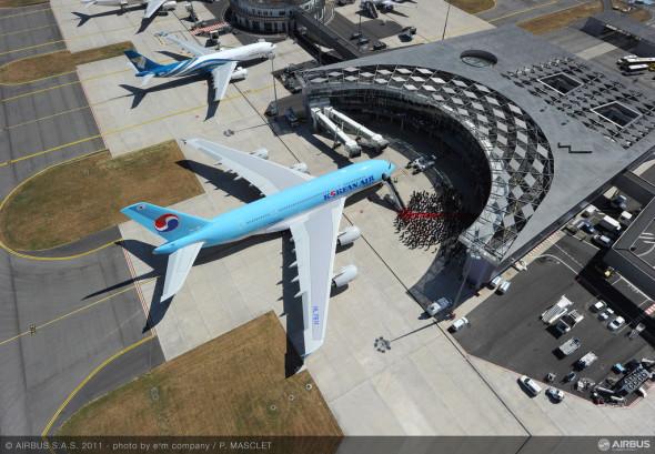 První A380 v Toulouse , foto Airbus