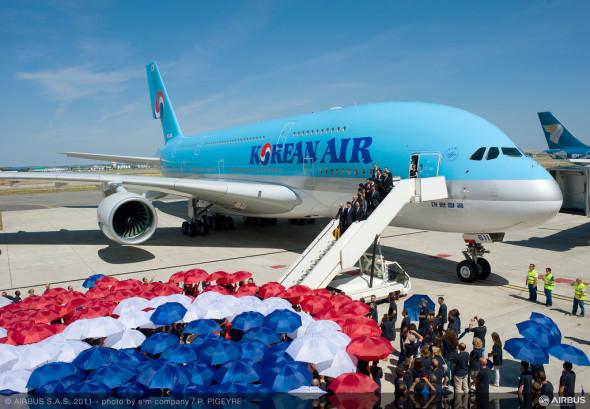 Slavnostní převzetí prvního A380 Korean Air v Toulouse , foto Airbus
