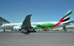 Emirates B 777 ve zbarvení pro Mistrovství světa ve fotbale