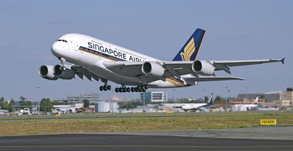 Singapore Airlines Airbus A 380 letiště
