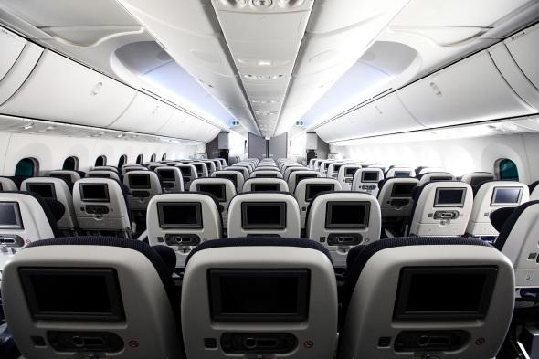 B787 British Airways cabin