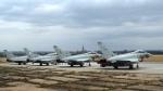 Eurofightery na základně čáslav