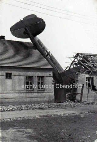 Havárie He 111 v obci Jeneček