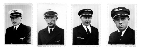 Posádka letounu který letěl kolem světa
