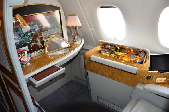 A 380 Emirates první třída