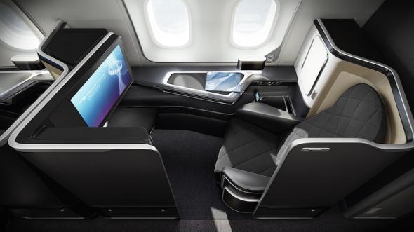 British Airways Boeing 787 Dreamliner interier