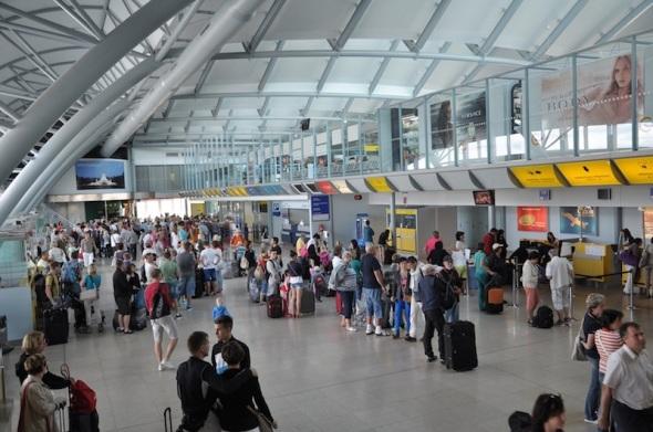 Departure terminal Brno Airport