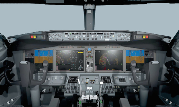 Boeing 737 800 MAX  flightdeck