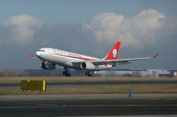 Sichuan Airlines Prague landing