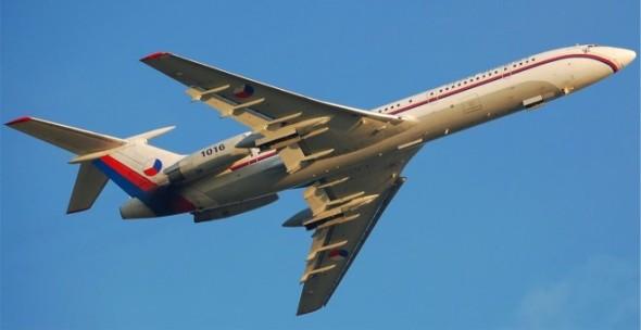 Tupolev Tu 154 po vzletu
