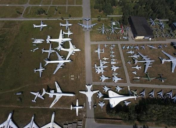 letecké muzeum Monino celkový pohled
