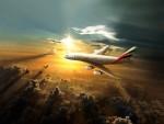 Airbus 380 Emirates z Prahy