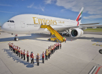 Emirates Airbus A 380 Vídeň