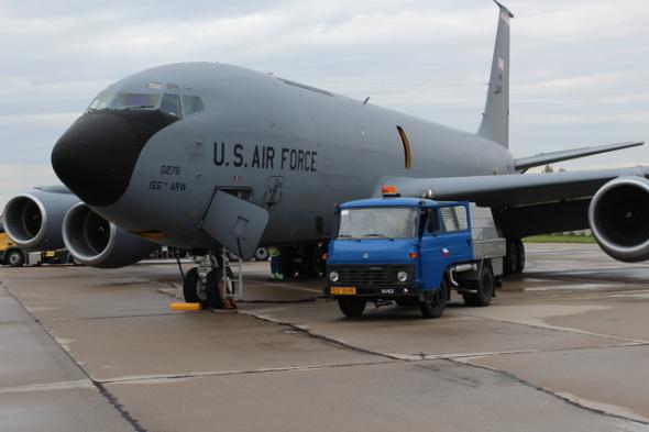 Boeing KC 135 na základně Pardubice