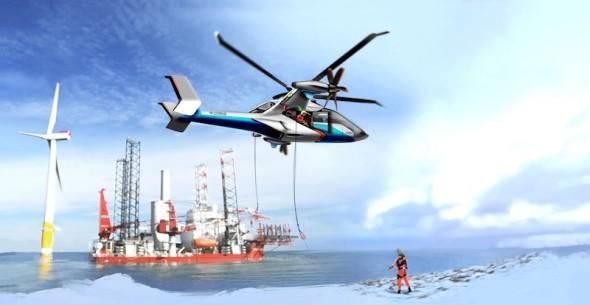 Airbus Helicopter gyrodyn CS2 při práci