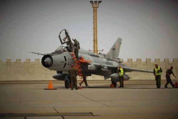 Suchoj Su 22 polského letectva na základně Náměšť