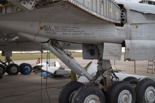 Tupolev TU 154 detail podvozku