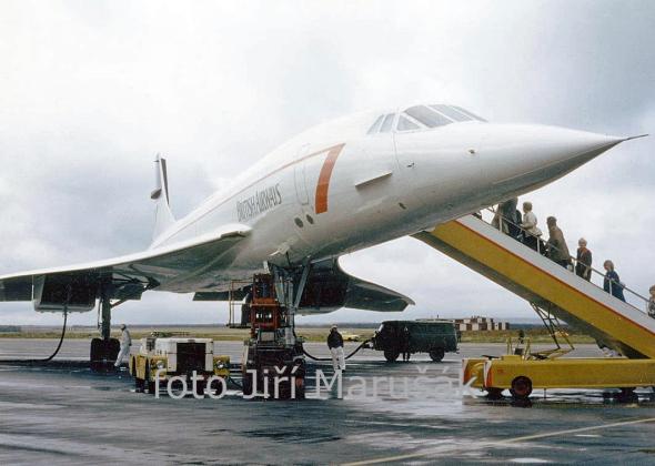 Concorde poprvé na letišti Praha Ruzyně