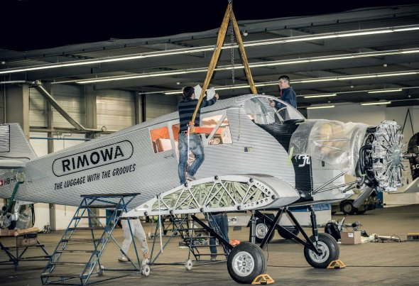 Junkers F 13 Rimowa usazování podvozku