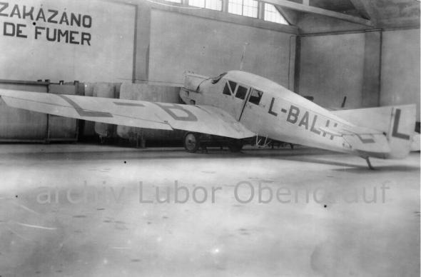 Junkers F13 Kbely bez motoru