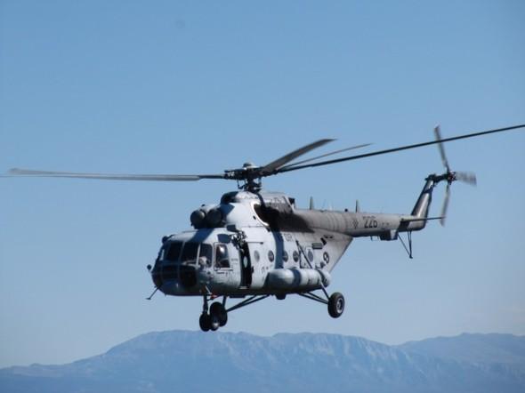 chorvatský vrtulník Mil Mi 171Š v letu