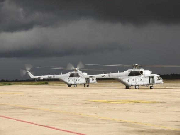 stojánka chorvatských vrtulníků Mil Mi 171