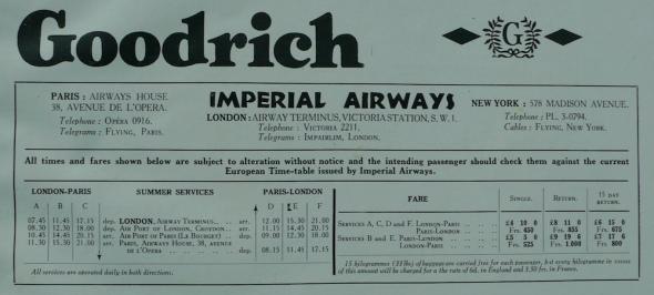 Letový řád Imperial Airways