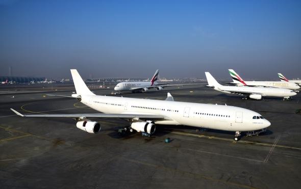 vyřazený Airbus A 340 společnosti Emirates