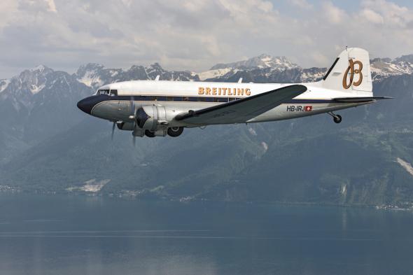 Douglas DC 3 Breitling let kolem světa 2017