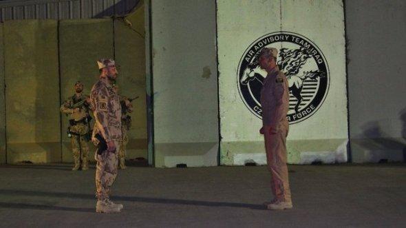 Vstup do zázemí leteckého poradního týmu Irák