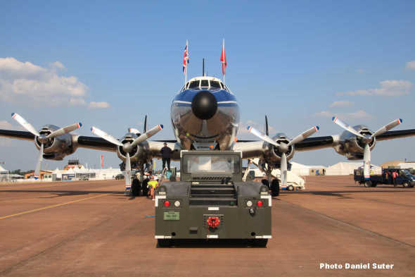 Lockheed Super Constellation towing