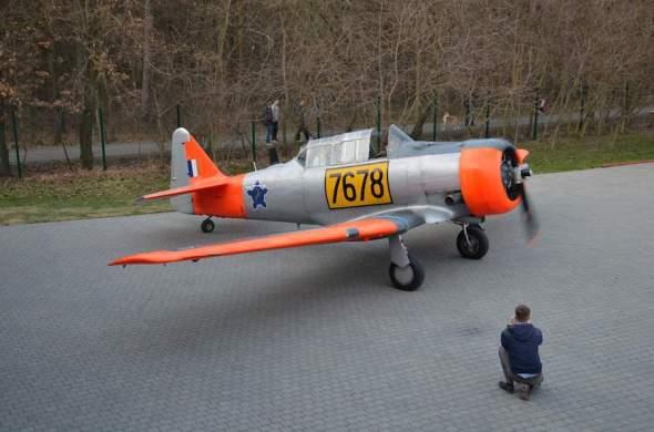 North American T 6 letecké muzeum Praha Točná